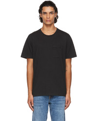Nudie Jeans Black One Pocket Roy T Shirt