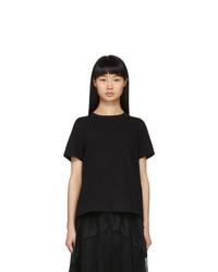 Sacai Black Open Back T Shirt