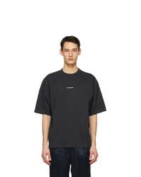 Acne Studios Black Printed T Shirt
