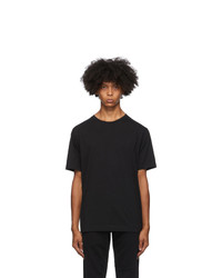 Dries Van Noten Black Round Collar T Shirt