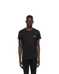 Balmain Black Round Neck T Shirt