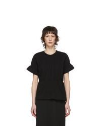 Comme Des Garcons Comme Des Garcons Black Ruched T Shirt