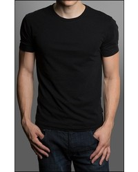 Gents Black Short Sleeve Crew Neck T Shirt