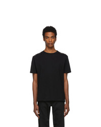 Valentino Black Shoulder T Shirt
