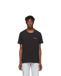 Champion Reverse Weave Black Small Script T Shirt