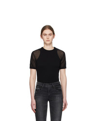 Our Legacy Black Square Round Neck T Shirt