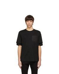Diesel Black T Fontal T Shirt