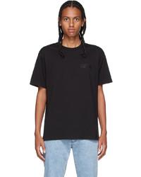 VERSACE JEANS COUTURE Black Tape Logo T Shirt