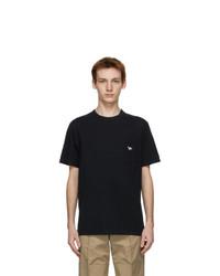 MAISON KITSUNÉ Black Tricolor Fox T Shirt