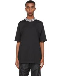 Fendi Black Vertigo Forever Collar T Shirt