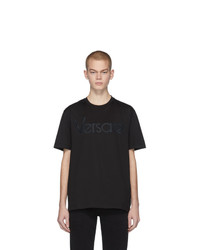 Versace Black Vintage Logo T Shirt