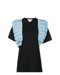 Gina Contrast Ruched Detail T Shirt