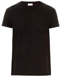 Saint Laurent Crew Neck Cotton Jersey T Shirt