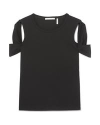 Helmut Lang Cutout Cotton Jersey T Shirt