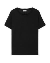 Saint Laurent Essentials Appliqud Cotton Jersey T Shirt