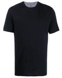 Brunello Cucinelli Grey Trim Crew Neck T Shirt