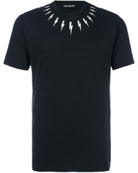 Neil Barrett Lightning Bolt Collar T Shirt
