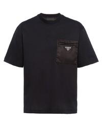 Prada Logo Plaque T Shirt