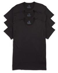 Hanes Luxury Essentials 3 Pack Crewneck T Shirt