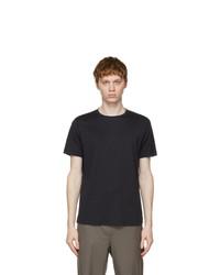 Loro Piana Navy Soft Silk Cotton T Shirt