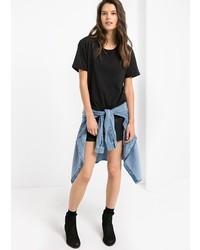 Mango Outlet Chest Pocket Cotton T Shirt