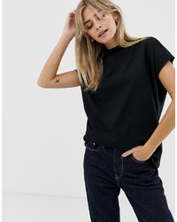 Weekday Prime T Shirt In Black In Organic Cotton