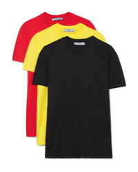 Prada Set Of Three Cotton Jersey T Shirts