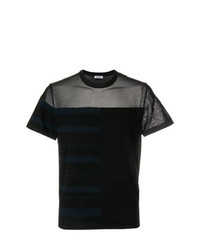 Dirk Bikkembergs Sheer Panelled T Shirt