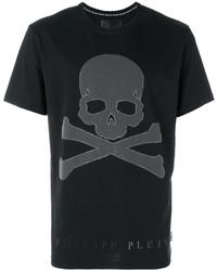 Philipp Plein Skull And Crossbones T Shirt