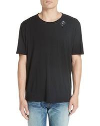 Saint Laurent Sl Card Crewneck T Shirt