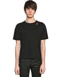 Saint Laurent Slow Kissing Cotton Jersey T Shirt