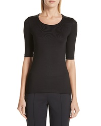 Akris Stretch Silk Jersey Top
