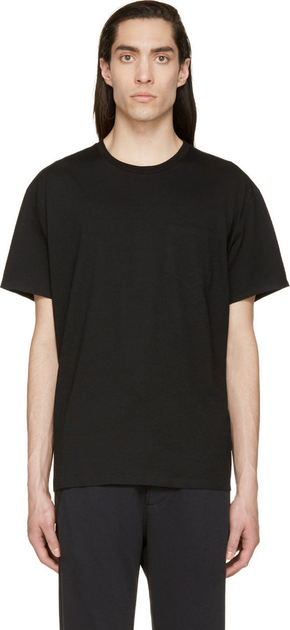 a0854be0fe4a8a ... Crew-neck T-shirts Alexander Wang T By Black Welded Pocket T Shirt ...
