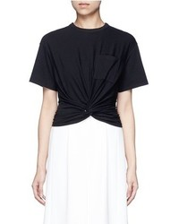 Alexander Wang T By Twist Front Cropped T Shirt