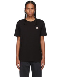 Moncler Three Pack Multicolor Logo T Shirt