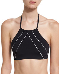Beach squad high neck swim top black medium 3679698