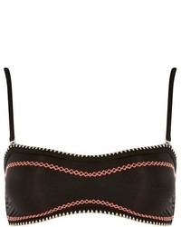 Topshop Crochet Stitch Bandeau Bikini Top