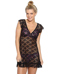 Betsey Johnson Love Lace Crochet Coverup