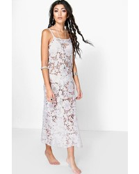 Boohoo Esme Boutique Crochet Beach Maxi Dress