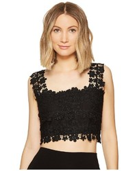Nicole Miller Alexa Crochet Lace Crop Top Clothing