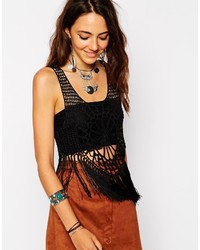 Asos Collection Hand Crochet Tank With Fringing