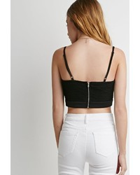 Forever 21 Crocheted Mesh Crop Top