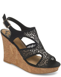 Kammi crochet platform wedge sandals medium 174285