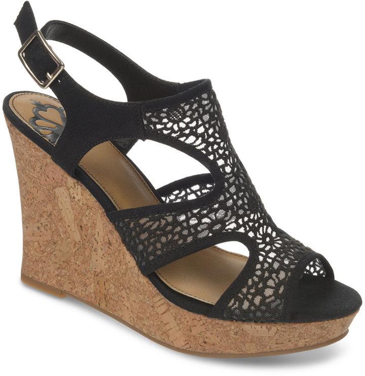 ad5d69a69bd ... Fergalicious Kammi Crochet Platform Wedge Sandals ...