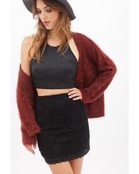 Forever 21 Floral Crochet Skirt