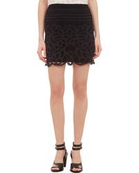 Rag and Bone Rag Bone Nancy Lace Crochet Skirt Black
