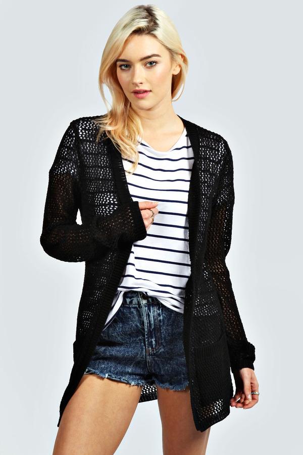 Boohoo Irana Crochet Knit Cardigan   Where to buy & how to wear