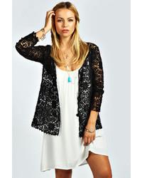 Boohoo tish tie front crochet cardigan medium 59601