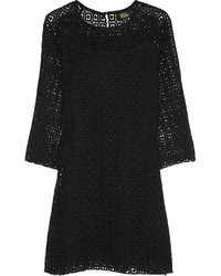 Black Crochet Shift Dress