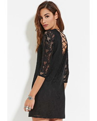 Forever 21 Crochet Crisscross Shift Dress